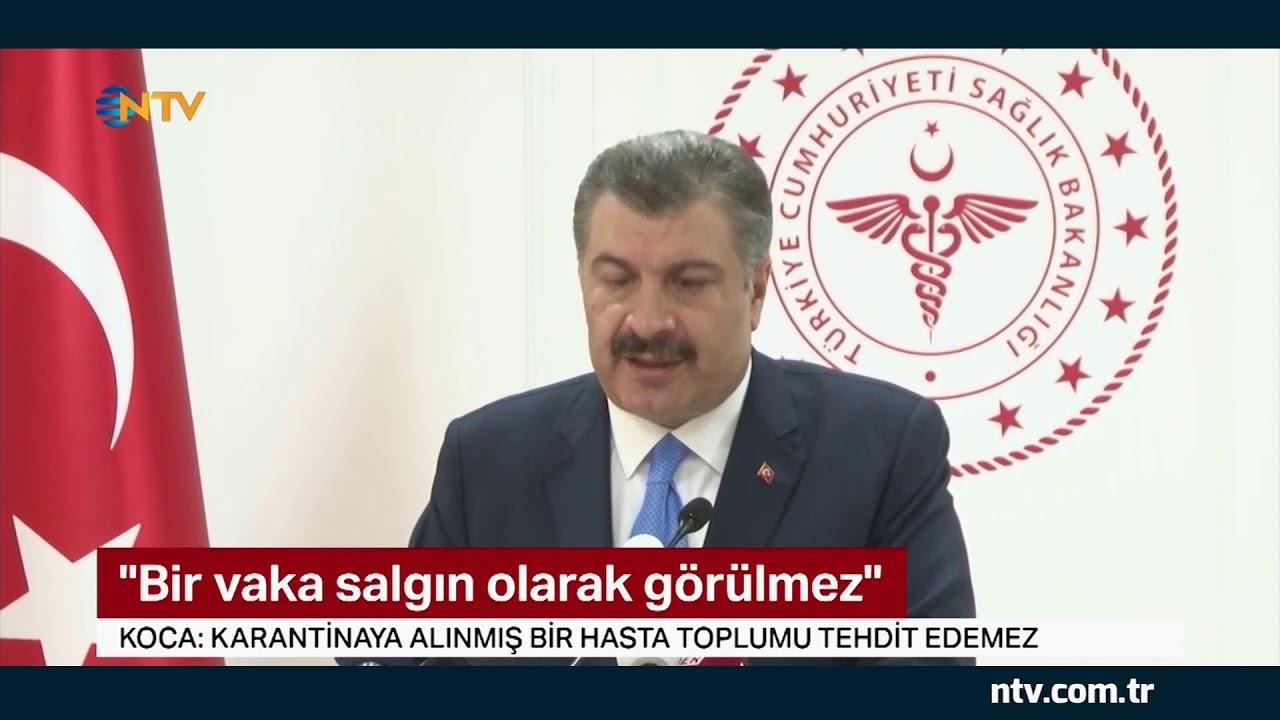 Türkiye'de ilk Coronavirüs vakası görüldü