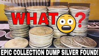 EPIC Silver Found!  90 Percent Collection Dump - Rolls of Silver!