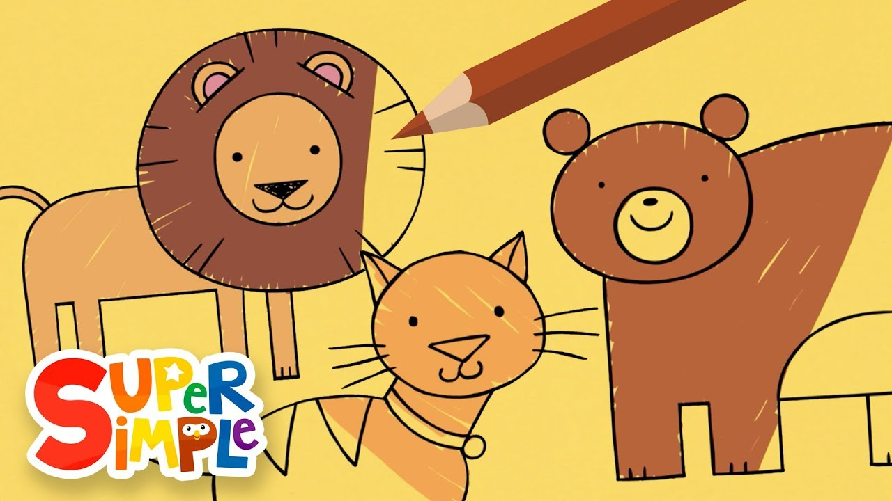 Drawing And Coloring Animals | + More Drawing For Kids | Watch ...