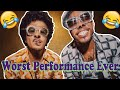 Bruno Mars - Worst Performance Ever - Leave The Door Open