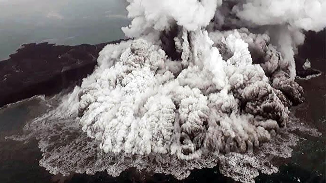 KRAKATOA and ANAK KRAKATOA VOLCANO DISASTER   Double Eruption and