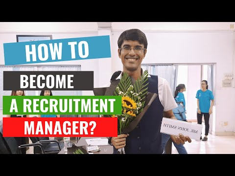 How to become a recruitment manager