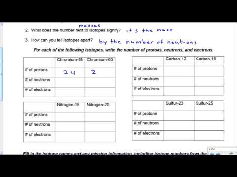 Ion Isotope Practice Key YouTube