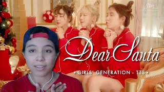 Girls' Generation-TTS (소녀시대-태티서) - Dear Santa (English ver.) [MV] (Video Reaction by Cassie)