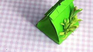 Подарочный пакет из бумаги. How to Make a Gift Bag