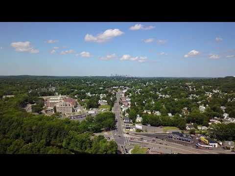 Drone captures amazing view of Boston from West Roxbury, Dedham Island