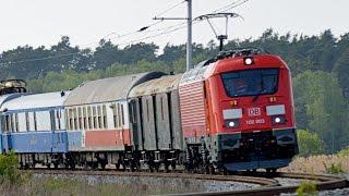 Testování lokomotiv řady 102 Deutsche Bahn na VUZ Velim /Train test track Czech Republic/ 6.5.2017