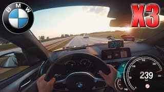 0-240 km/h   BMW X3 xDrive25d   TOP SPEED and Acceleration TEST ✔