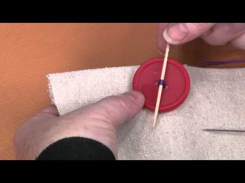 Sewing On A Two-Hole Thread Shank Button