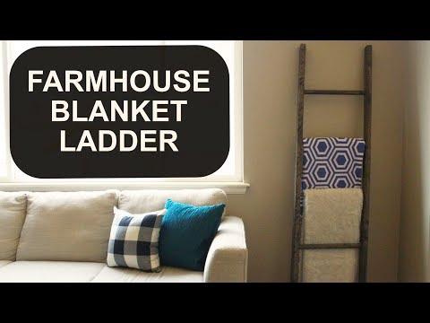 DIY FARMHOUSE BLANKET LADDER | $20 or less Farmhouse Project