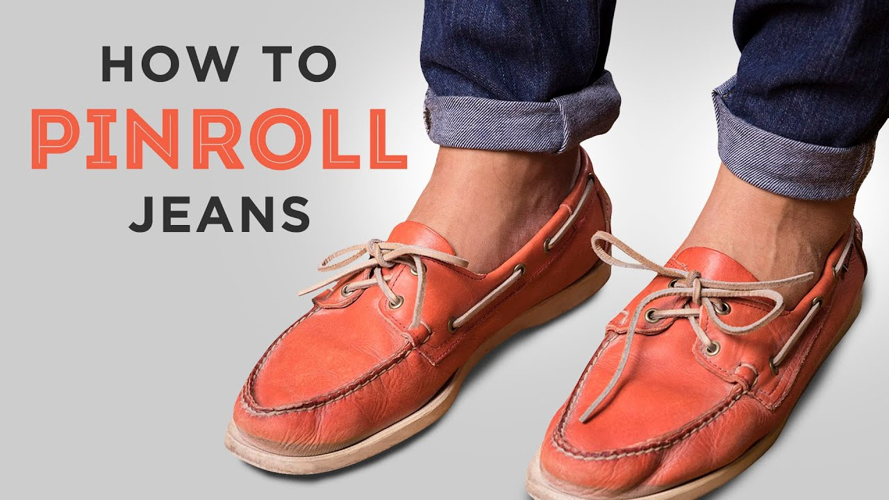How to Pinroll Jeans and chinos