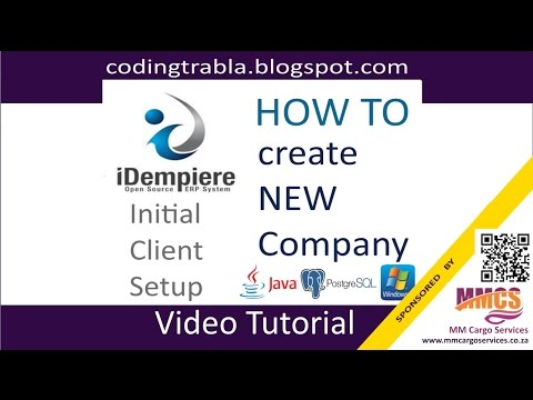 Idempiere ERP:  Create New Company ( Initial Client Setup ) ByAO