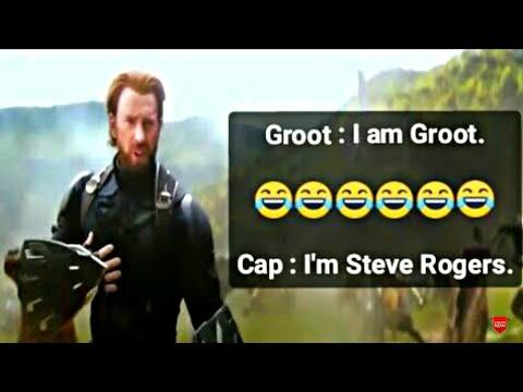 Captain America Meets Groot in Wakanda Battle Scene   I am Groot   I am Steve Rogers Captain America