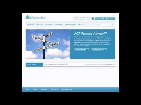 Introduction to ACP Practice Advisor