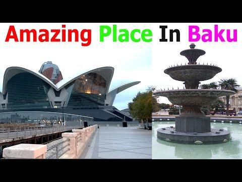 Azerbaijan Baku Beauty Beside Caspian Sea - Travel Vlog