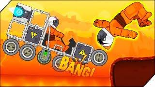МОЯ ТАЧКА УТОНУЛА В ЛАВЕ - RoverCraft Построй Луноход # 2 Игры для мальчиков