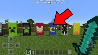 SAIU !!! BANDEIRAS NO MINECRAFT POCKET EDITION ! (Minecraft PE)