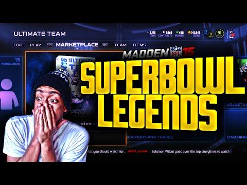 Madden NFL 15 Ultimate Team -  SUPERBOWL LEGEND PACK OPENING! 1 TRACY PORTER PLS  - MUT 15