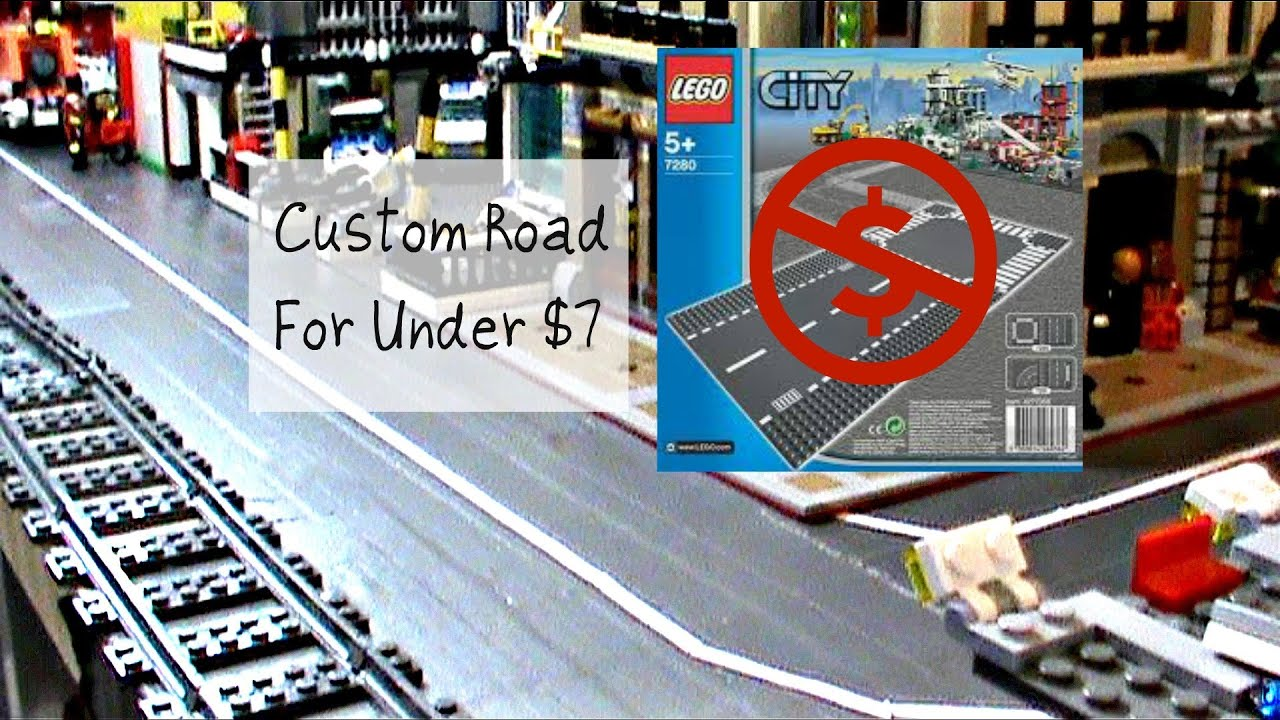 HOW TO MAKE A CUSTOM LEGO ROAD FOR UNDER 7$   YouTube