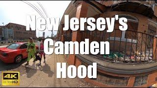 360° Virtual Walking Tour 4K AMERICAN HOODS | Camden New Jersey (Immersive Interactive VR Videos)