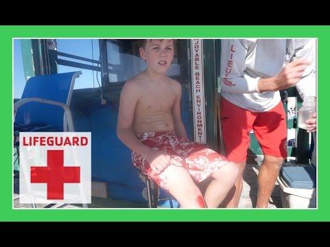 LIFEGUARD SAVES RYAN ON THE BEACH   Flippin
