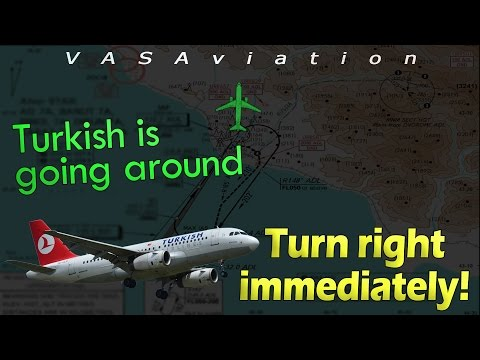 [REAL ATC] Turkish A319 ALTITUDE/TERRAIN ALERT (near crash) at Sochi