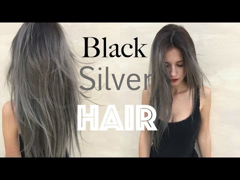 How to: Black Roots Silver Grey Hair | Stella