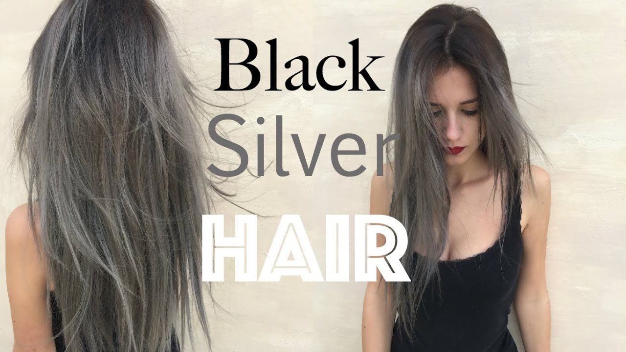 black roots silver grey