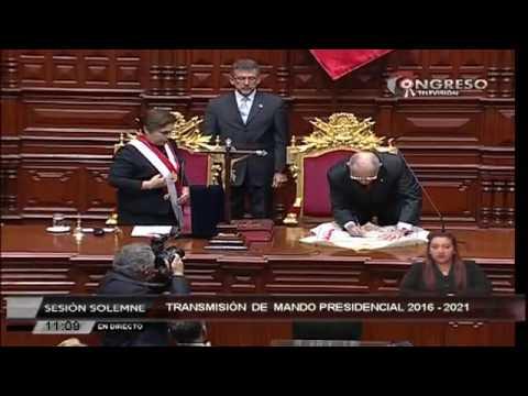 Ceremonia de juramentación y mensaje a la Nación de Pedro Pablo Kuczynski