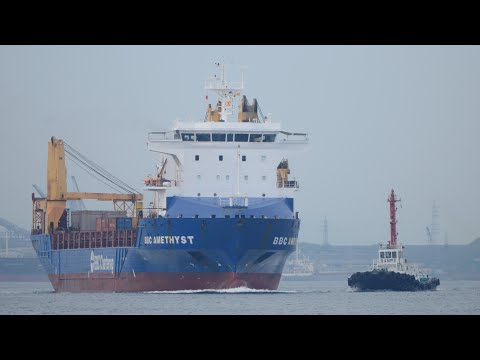 "重量物運搬船 ""BBC AMETHYST"" Multipurpose heavy-lift ship"