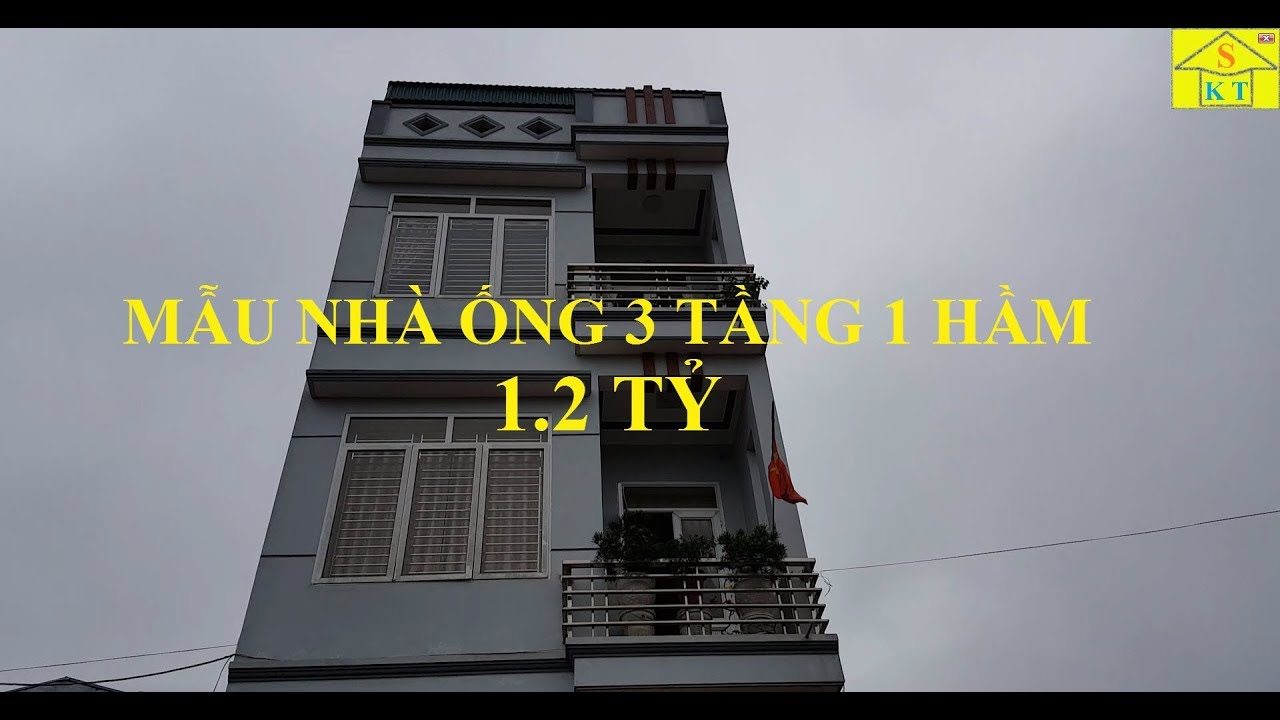 Thăm Quan Mẫu Nhà Ống 3 Tầng 1 Tầng Hầm Diện Tích 5x20m Tại Thái Nguyên Giá 1.2 Tỷ