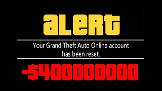 Rockstar Is Now DELETING ACCOUNTS In GTA 5 Online!!! (HUGE MONEY WIPE/ACCOUNT RESET)