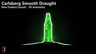 Carlsberg Suave Tiro de Lanzamiento de Producto – Animación 3D – Producción por DK Medios de comunicación