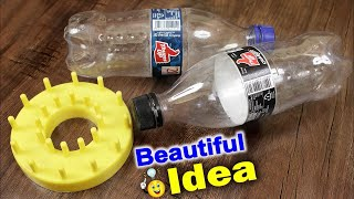 DIY Wall Hanging Making at Home | Best Out of Waste Idea Using Plastic Bottle | Handmade Wall Decor