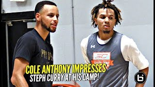 Cole Anthony Had Steph Curry SKIPPING!! Shows Off NASTY HANDLES at #SC30SelectCamp!