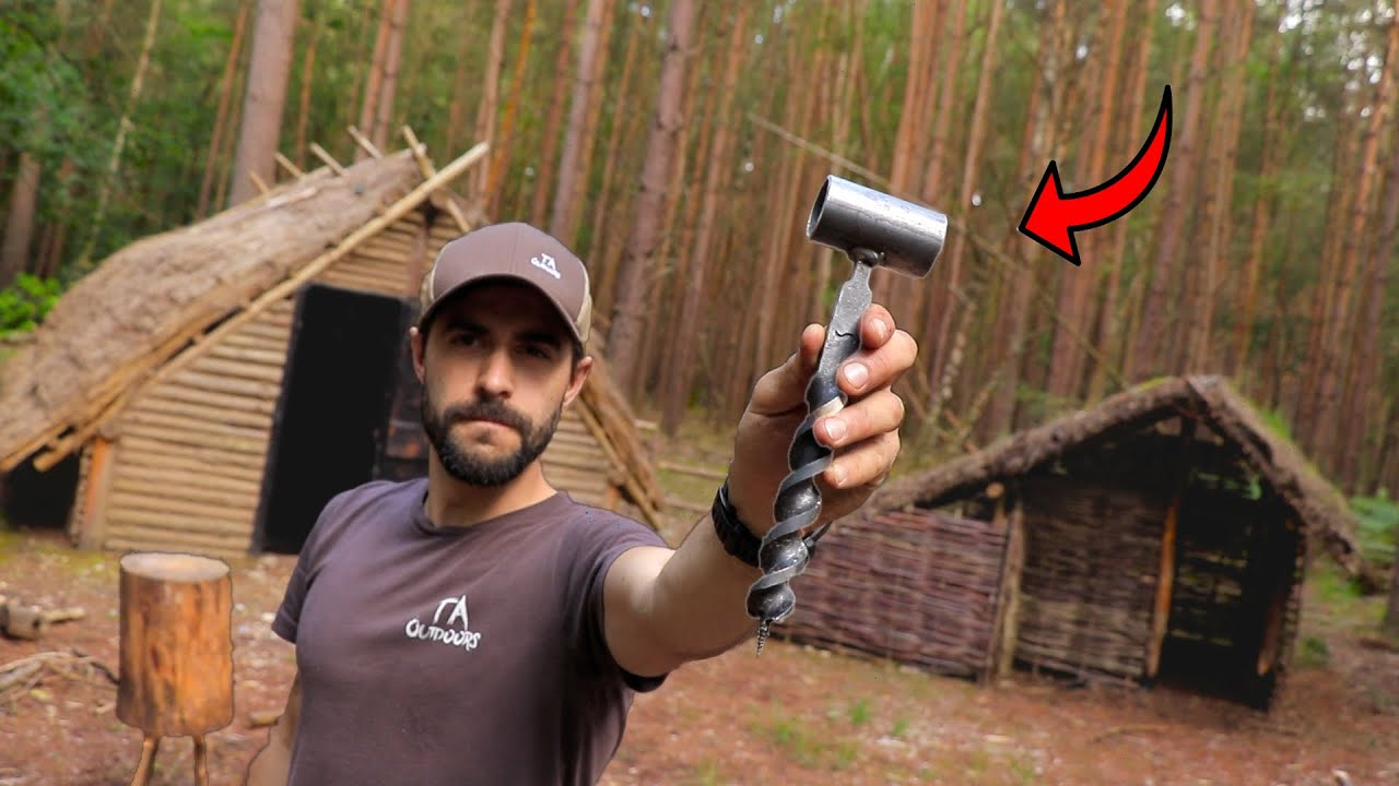 Testing the Alec Steele Auger in the Woods! Bushcraft Project