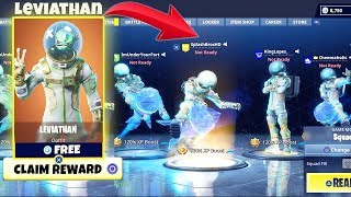 I BUY MY WHOLE SQUAD SKINS ! FREE ! NEW LEVIATHAN SKIN ! FORTNITE BATTLE ROYALE