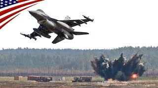 F-16ファイティング・ファルコン戦闘機の近接航空支援(CAS)訓練