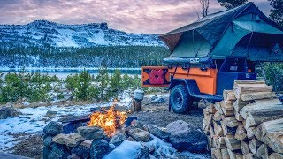 Fall Roof Top Tent Camping  - Searching for Snow