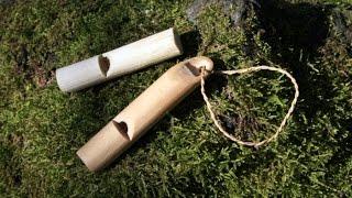 Как сделать свисток из ветки?! /  How to make a whistle from a branch?