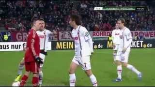 Franck Ribéry FIGHT Horror Red Card slapping Ja Cheol Koo ( FC Augsburg Vs FC Bayern München)