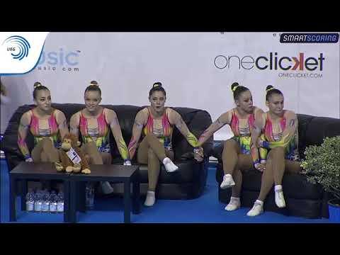 Italy - 2017 Aerobics Europeans, junior group final