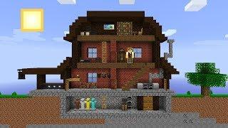 Minecraft: CONSTRUÍ MINHA PRIMEIRA CASA DE RICO NO MINECRAFT 2D!
