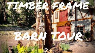 Timber Frame Barn  Tour of Interior  Dog Kennels