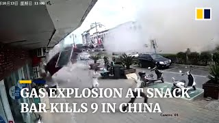 Gas explosion at restaurant kills 9 in China