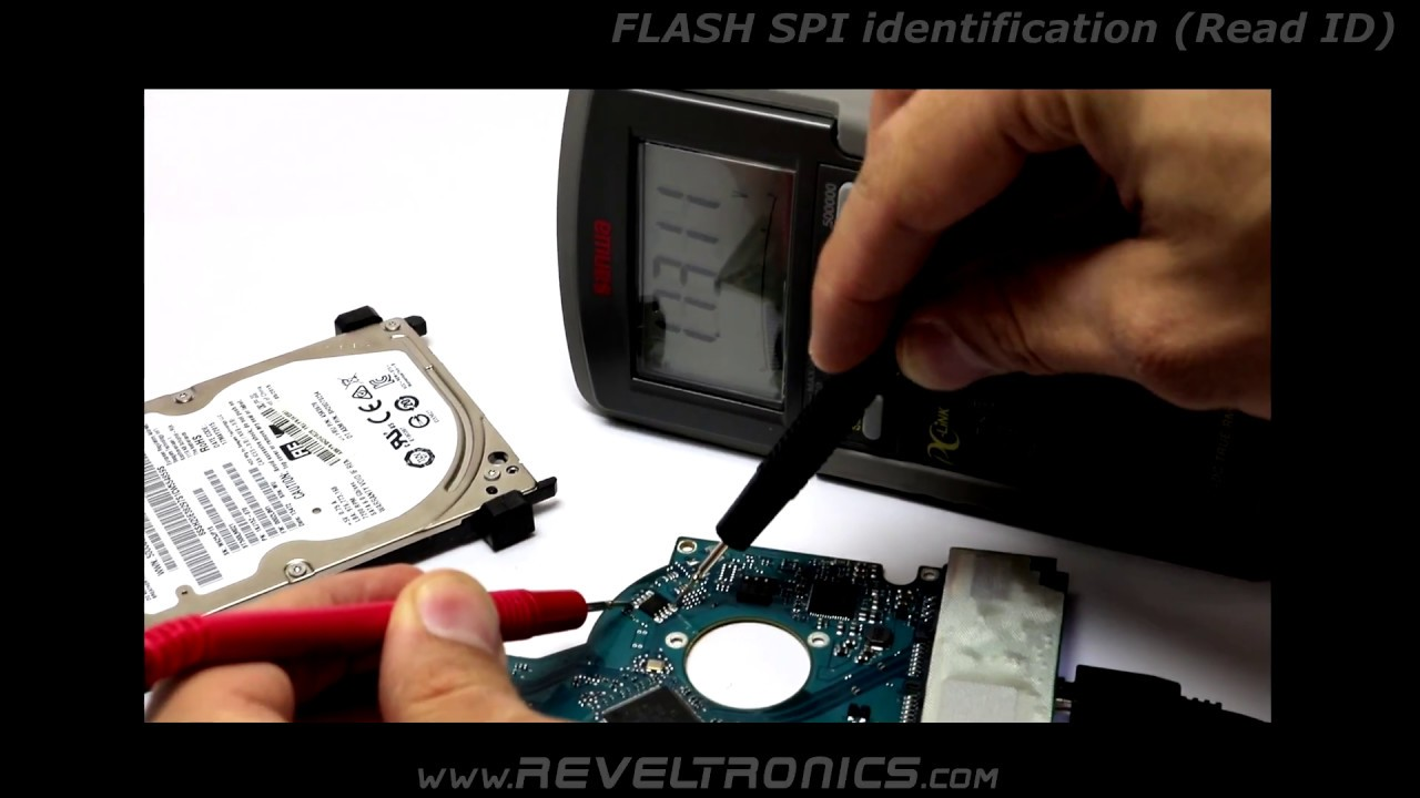 SPI FLASH Memory Identification (Read ID) in circuit (ISP) - REVELPROG-IS