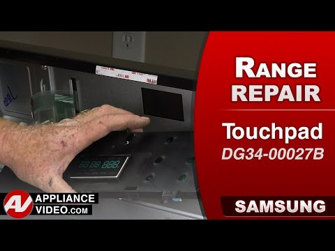 Samsung  Stove / Range - S3 Error Code - Touchpad replacement