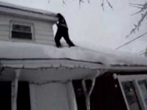 Ryan Me Falling Off The Roof Of Our House Into The Snow 2