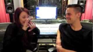 Sierra Boggess & Michael Moritz in the studio with AWAKENING