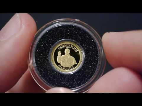 2013 Cook Islands $1 Habemus Papam - Pope Franciscus Jorge Bergoglio Gold Coin